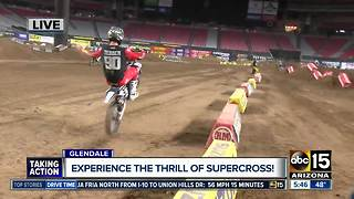 Experience the thrill of supercross in Glendale - Video