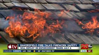 Bakersfield Fire talks firework safety ahead of Independence Day - Video