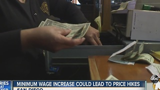 Minimum wage increase could lead to price hikes - Video