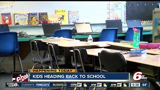 Students head back to school in Central Indiana