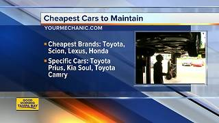Cheapest cars to maintain - Video