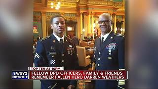 Fellow DPD officers remember Darren Weathers as a hero and the best among them - Video