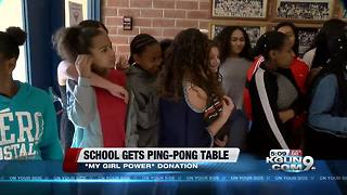 My Girl Power donates ping-pong table to TUSD school - Video