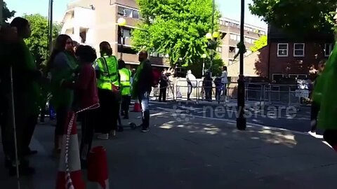 Second anniversary of devastating Grenfell Tower fire draws crowd