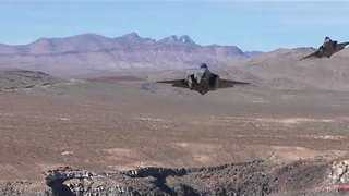 Dutch Air Force F35 Fighters Fly Over Death Valley - Video