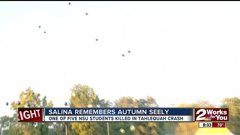 Salina High School honors Autumn Seely after her funeral services Friday afternoon