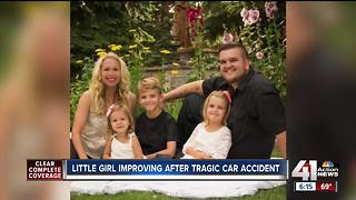 Family says girl injured in crash now talking - Video