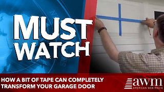 How a Bit of Tape Can Completely Transform Your Garage Door - Video