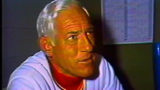 Sparky, Reds react to snowy, wintry  Opening Day in 1977 - Video