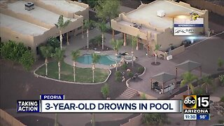 MCSO: 3-year-old dies after being pulled from Peoria pool