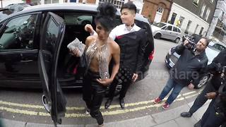 Sinitta arrives at LGBT awards in London - Video