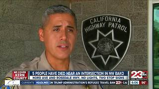 Dangerous intersection in NW Bakersfield where five people have been killed in the past three weeks - Video