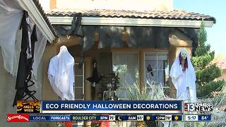 Halloween display in Summerlin features recycled materia - Video