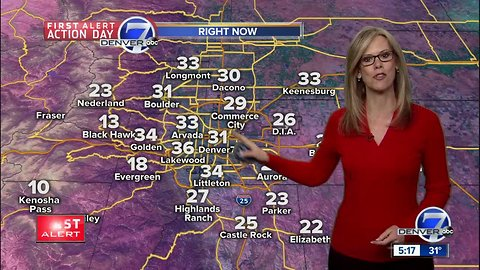 Snow moves east, more snow for Denver tomorrow night