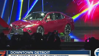 City of Detroit shines for Auto Show visitors - Video