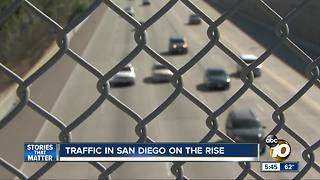 Traffic in San Diego on the rise