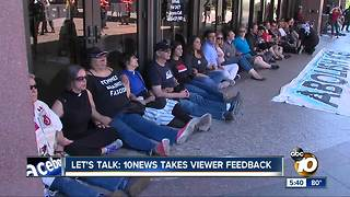 Let's Talk: Immigration protests - Video
