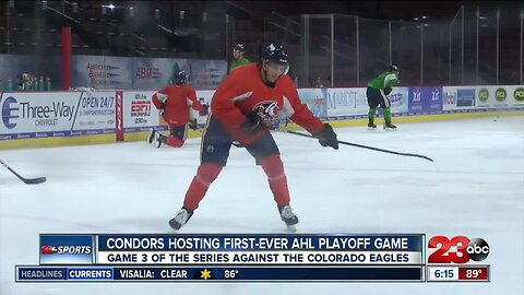 Kari previews Condors' first-ever AHL playoff home game