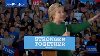 Hillary Says Trump Is A Threat To Our Democracy - Video