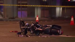 Crash kills motorcyclist near Las Vegas strip - Video