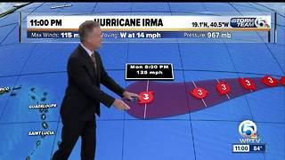Hurricane Irma back up to Category 3 with 120 mph winds