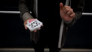 Talented Magician Shows Off Amazing Card Trick Moves  - Video