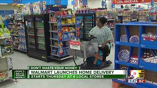 Walmart launches home delivery - Video