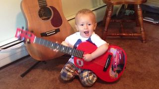 Tot Loves to Sing About His Daddy