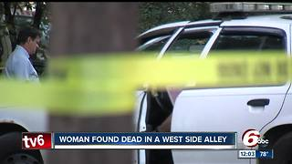 Woman's body discovered in an alley on Indianapolis' west side - Video
