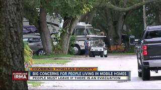Pinellas Mobile Home & RV residents worried about Irma - Video