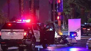 60 year old dies after being hit by several vehicles on Las Vegas Blvd. - Video
