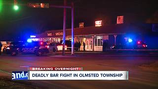 One man dead, woman injured after fight breaks out inside Falls Lounge in Olmsted Township - Video
