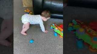 Toddler Twins Enjoy 'the Floor Is Lava' Game