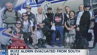 Buzz Aldrin evacuated from South Pole - Video