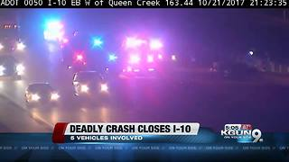 2 people killed in 5-vehicle crash on I-10 in Chandler - Video