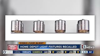 Home Depot recalling vanity fixtures - Video