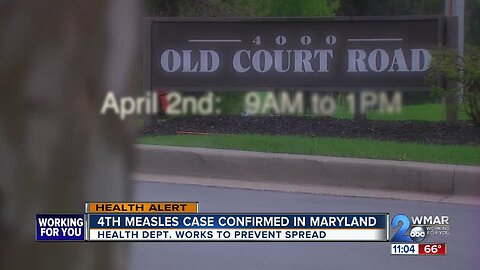 Fourth case of measles diagnoses in Maryland