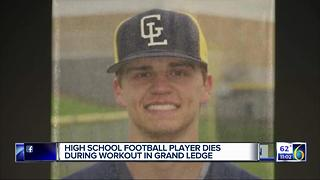 High school football player dies