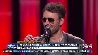 Eric Church gets emotional while talking about mass shooting victims