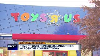 Toys 'R' Us will close for good today - Video