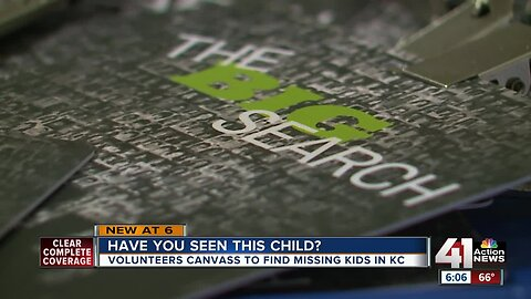 'Have you seen this child?': Volunteers canvass Kansas City to find missing kids