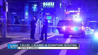 1 killed, 2 injured in downtown shooting - Video