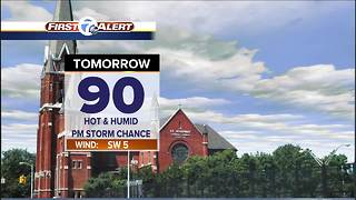 Hot and humid holiday weekend - Video