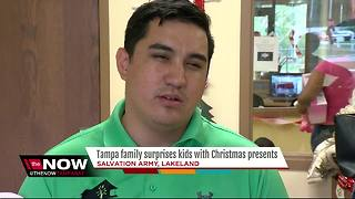 Local couple surprises kids at Lakeland Salvation Army with Christmas gifts - Video
