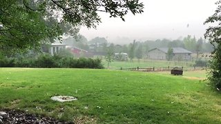 Hail Storm Hits Boulder - Video