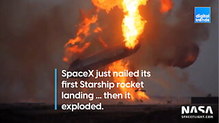 SpaceX just nailed its first Starship rocket landing ... then it exploded