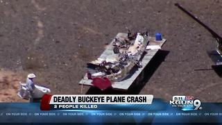 Plane from Buckeye crashed near the Valley killing two on board - Video