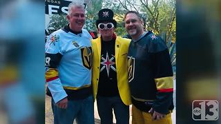 Vegas Golden Knights super fan embraces Willy Wonka-themed gimmick