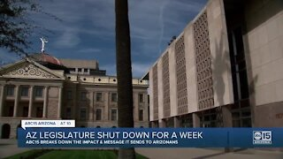 Arizona legislature shut down for week