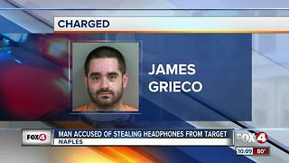 Target employee steals $1,000 worth of headphones - Video